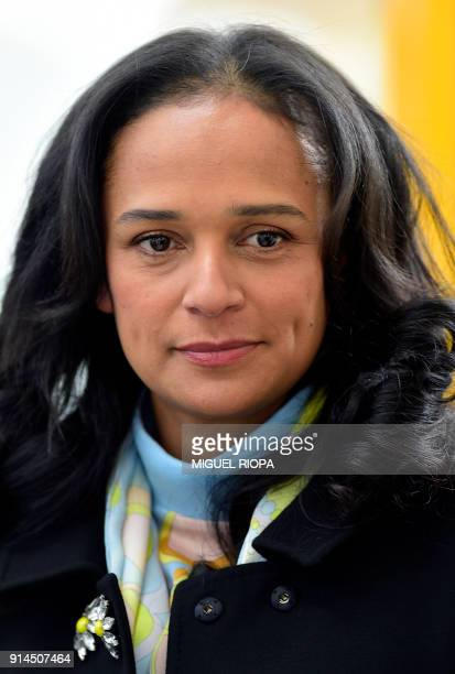 Angolan businesswoman Isabel dos Santos visits the new started EFACEC Portuguese corporation's electric mobility industrial unit on February 5 2018...