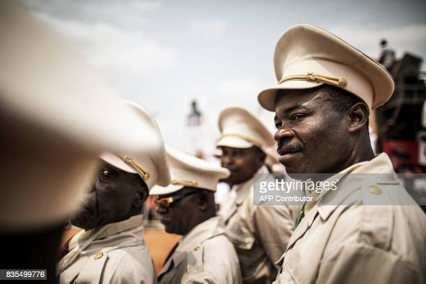 TOPSHOT Angolan Chef Coutoumier pose during Angolan President and The People's Movement for the Liberation of Angola President Jose Eduardo dos...