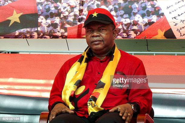 Angolan Defence Minister Joao Lourenco is seen prior to deliver a speech as part of celebrations marking the 60th anniversary of Angolan ruling party...