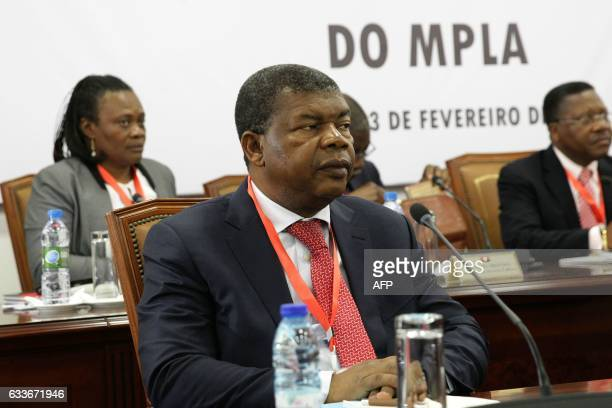 Angolan Defense Minister João Lourenço and the Angolan president attend the ordinary meeting of the central committee of Angolan Ruling party...