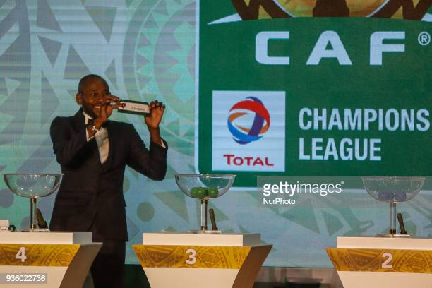 Angolan footballer and former player for el ahly Gilberto during The draw of the group stage of Total CAF Champions League and 2nd 1/16th round of...