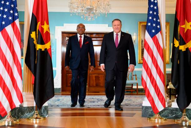 DC: Secretary Of State Mike Pompeo Welcomes Angolan Foreign Minister Domingos Augusto To State Department