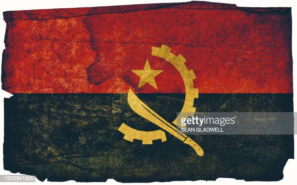 angolan grunge flag - insignia stock pictures, royalty-free photos & images