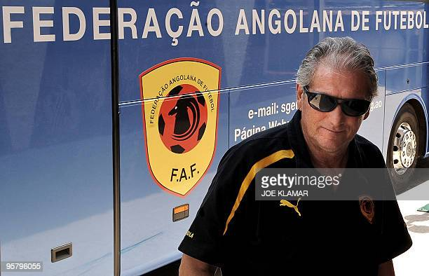 Angolan national football team's head coach Manuel Jose leaves a press conference in his team's hotel during African Cup of Nations football...
