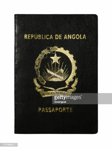 Angolan passport isolated on a white background