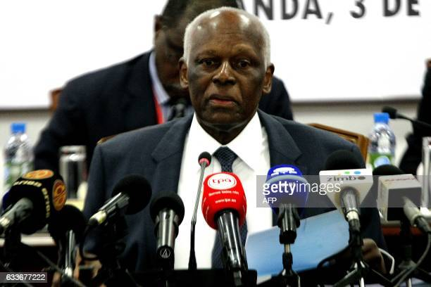 Angolan President Jose Eduardo Dos Santos attend the ordinary meeting of the central committee of Angolan Ruling party Movement for the Liberation of...