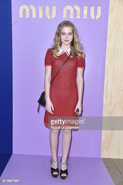 Angourie Rice attends the Miu Miu show as part of the Paris Fashion Week Womenswear Spring/Summer 2017 on October 5 2016 in Paris France