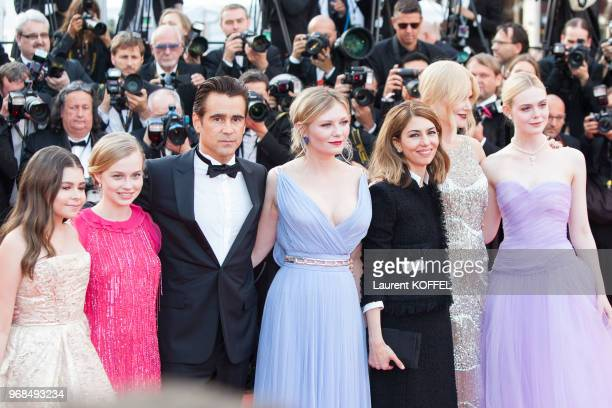 Angourie Rice Colin Farrell Nicole Kidman director Sofia Coppola Kirsten Dunst Elle Fanning Addison Riecke and Youree Henley attend the 'The...
