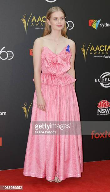 THE STAR SYDNEY NSW AUSTRALIA Angourie Rice seen on the red carpet during the 60th AACTA Awards in Sydney