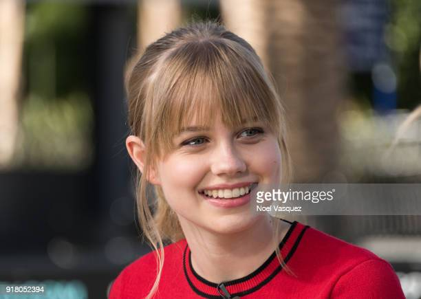 Angourie Rice visits 'Extra' at Universal Studios Hollywood on February 13 2018 in Universal City California