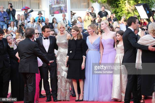 Angousie Rice Colin Farrel Nicole Kidman Sofia Coppola Kirsten Dunst Elle Fanning and Addison Riecke attend The Beguiled premiere during the 70th...