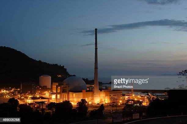 Angra II Nuclear Plant external view at twilight
