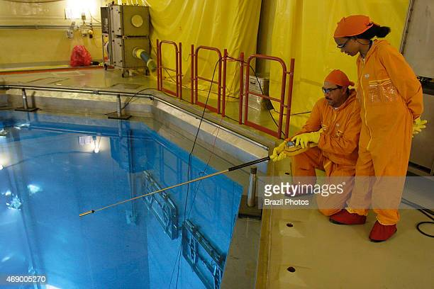 Angra II Nuclear Plant loading of nuclear fuel into the nuclear reactor Physicist Monica Oliveira in the foreground coordinates the process
