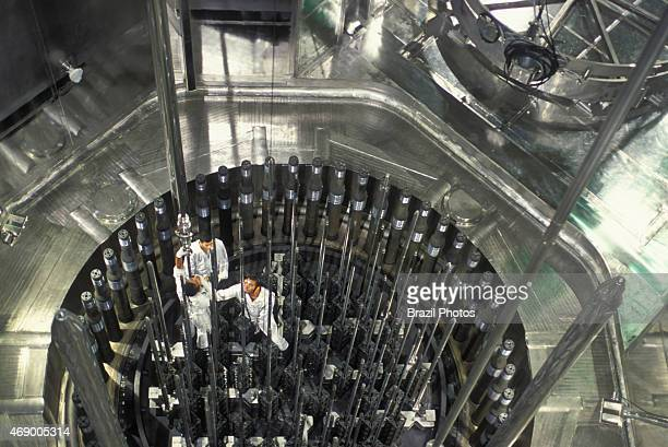 Angra II Nuclear plant workers inside the nuclear reator maintenance job