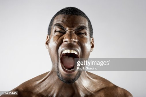 Angry African Man Shouting Stock Photo | Getty Images