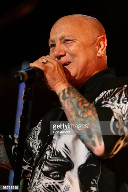 Angry Anderson performs on stage at the 'MTV Classic The Launch' music event at the Palace Theatre on April 28 2010 in Melbourne Australia The event...