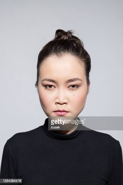 angry asian young woman - izusek stock pictures, royalty-free photos & images