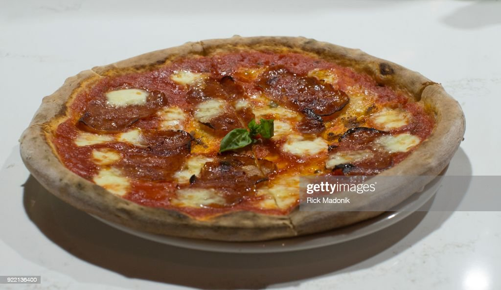 Angry Bee pizza from Pie Bar... : News Photo