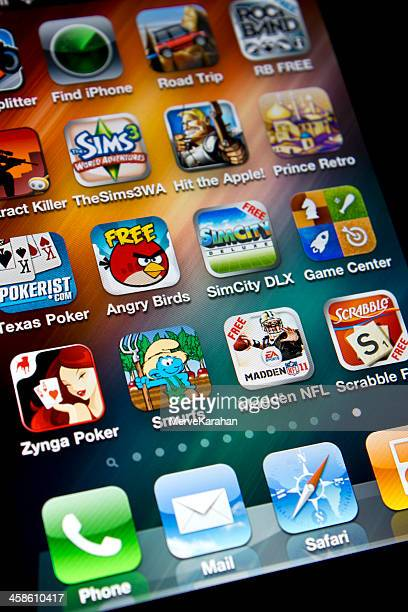 Angry Birds and other Games on Iphone 4