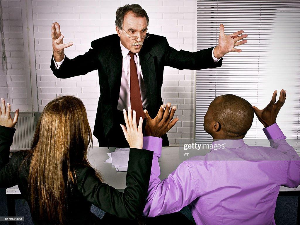 Angry boss : Stock Photo