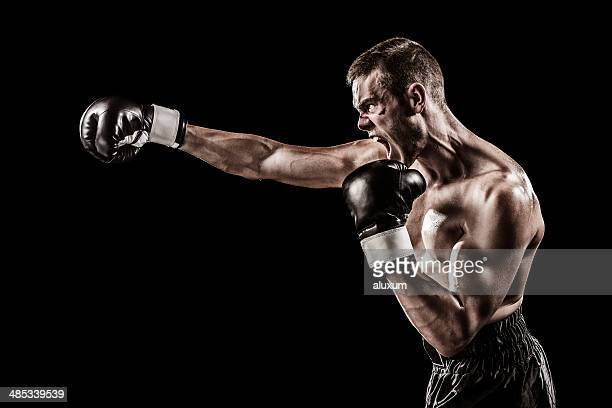 angry boxer - combat sport stock pictures, royalty-free photos & images
