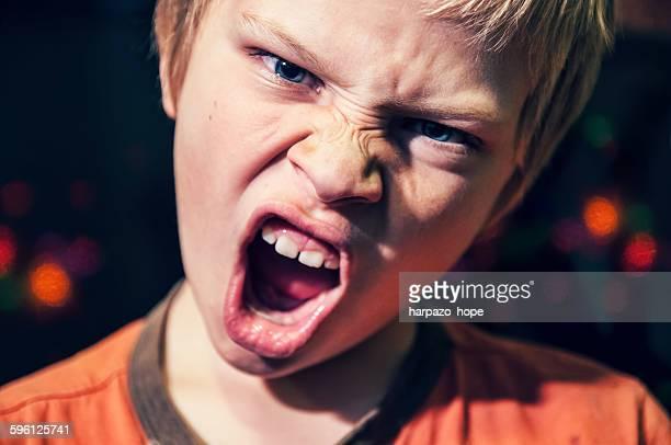 Angry Boy at Christmas