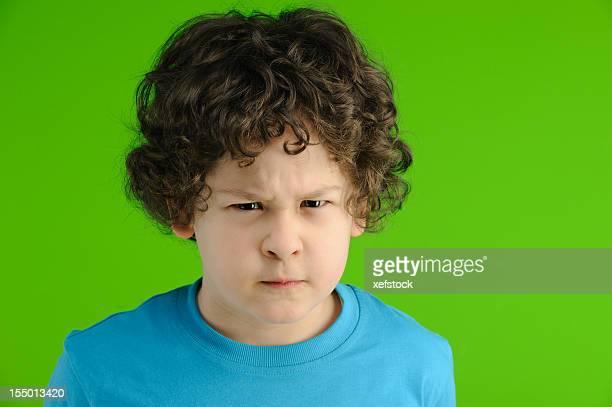 Wütende Junge