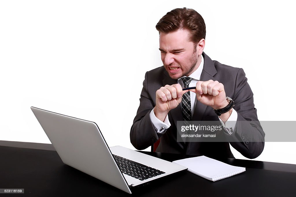 Angry businessman : Stockfoto
