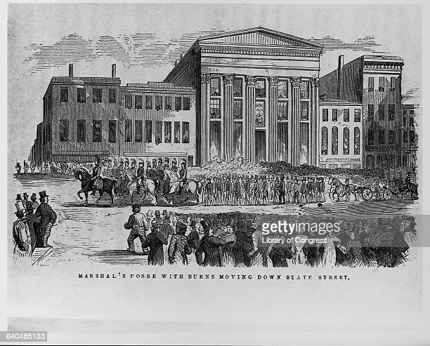 Angry citizens in Boston protesting a 1854 court order to return Anthony Burns to slavery in Virginia in accordance with the Fugitive Slave Act Burns...