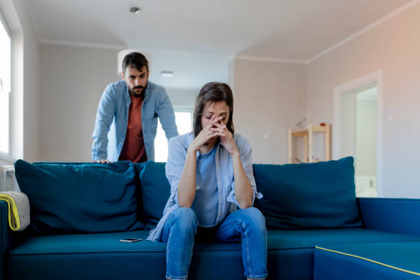 angry couple having an argument - marriage problems stock pictures, royalty-free photos & images