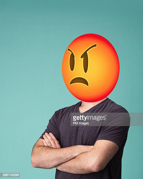 Angry emoji head