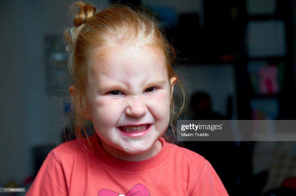 Angry girl. : Stock Photo