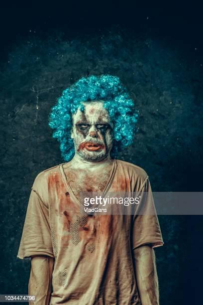 palhaço de halloween com raiva - assassino - fotografias e filmes do acervo