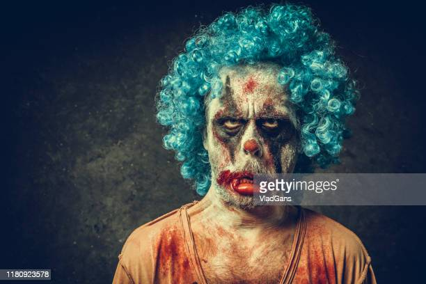 angry halloween clown - insanity stock pictures, royalty-free photos & images