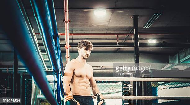Angry, handsome and muscular Boxer