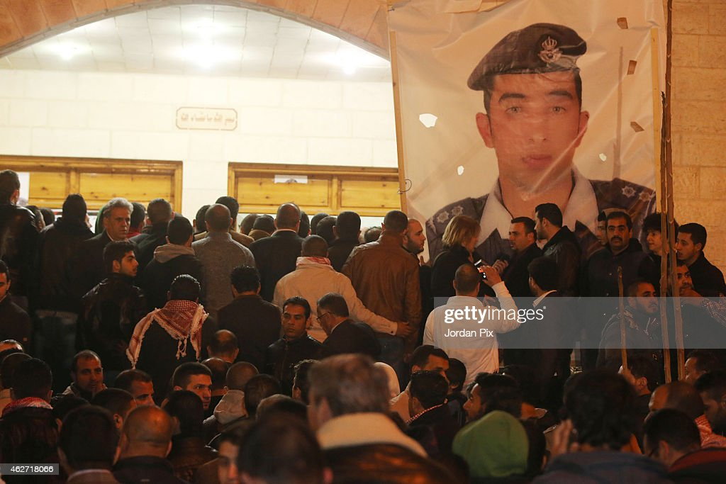 Relatives Of Jordanian Pilot Gather At The Society Of Their Tribe In Amman : News Photo