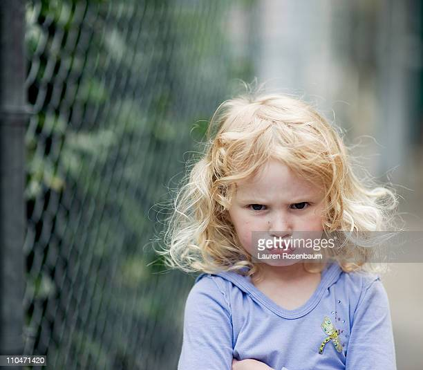 angry little girl - sulking stock pictures, royalty-free photos & images