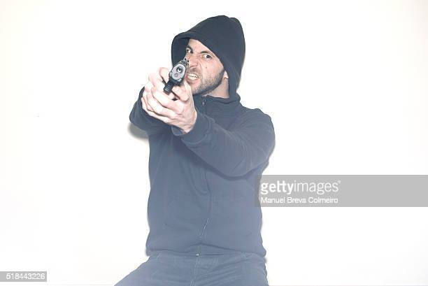 Angry man armed