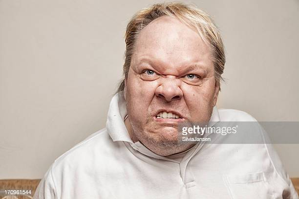 angry man - ugly man stock photos and pictures