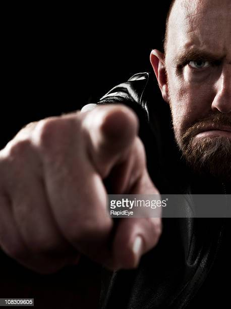 angry man pointing an accusing finger - desire stock pictures, royalty-free photos & images