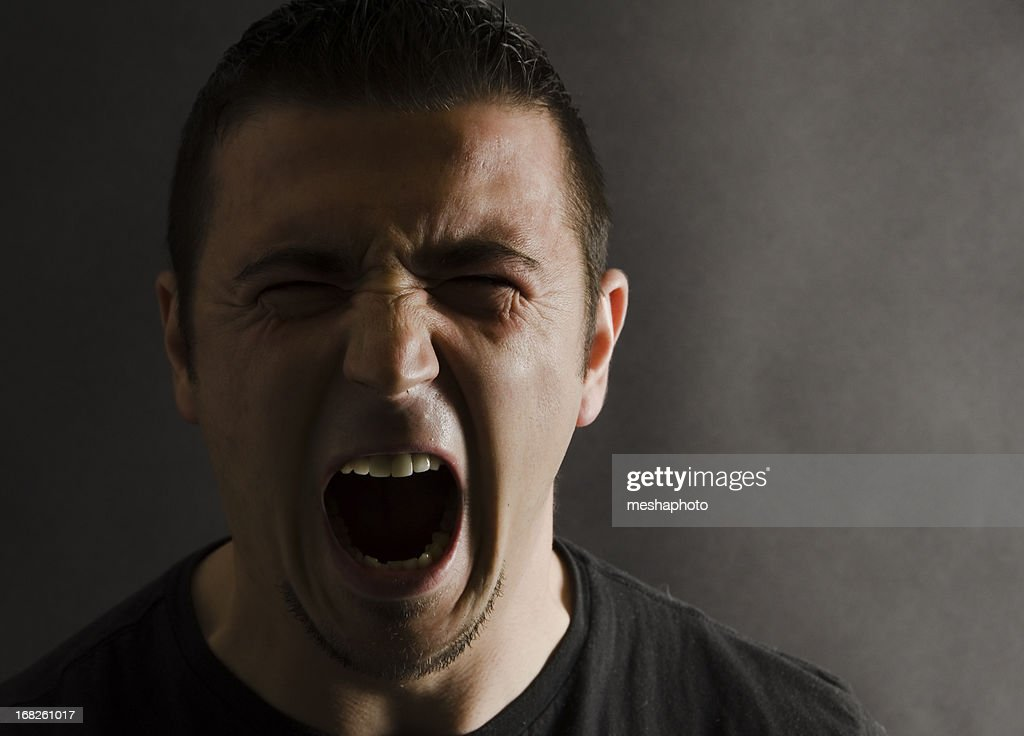 Angry Man Portrait : Stock Photo