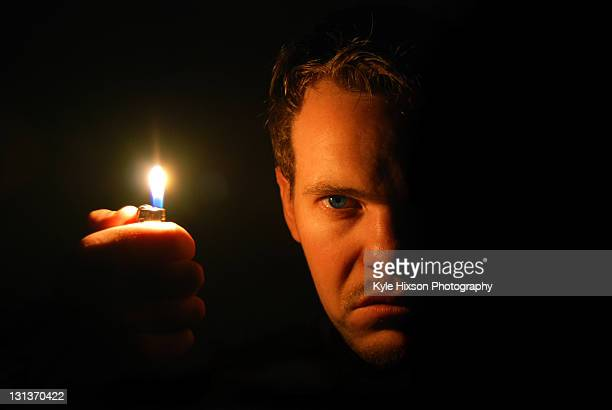 Angry man with flame
