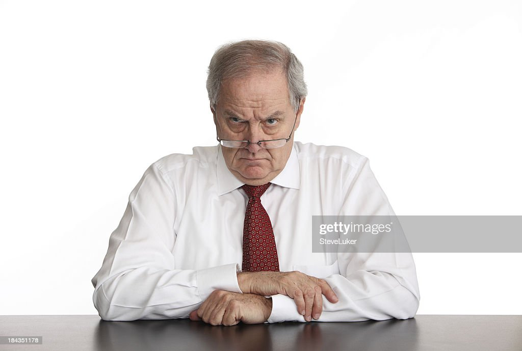 Angry Manager : Stock Photo
