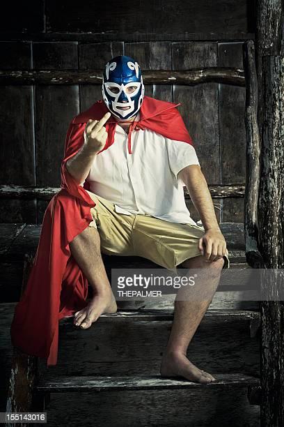 怒りメキシコ luchador - プロレス ストックフォトと画像