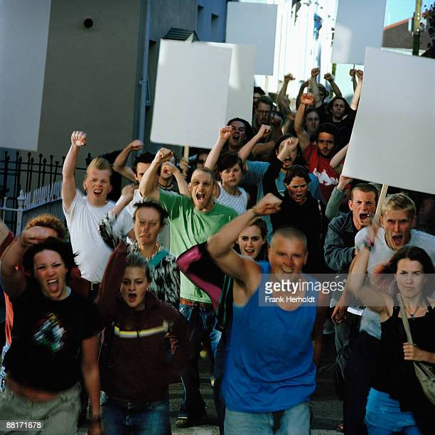 angry mob - political rally stock pictures, royalty-free photos & images