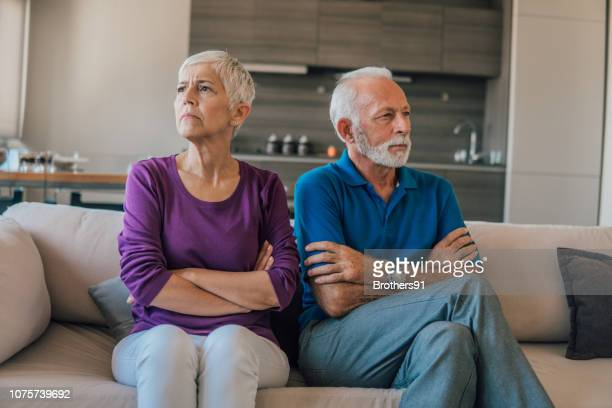 angry old people - communication problems stock pictures, royalty-free photos & images
