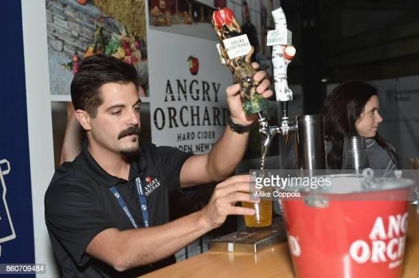 Angry Orchard is served at The Food Network & Cooking Channel New York City Wine & Food Festival Presented By Coca-Cola - Smorgasburg presented by...