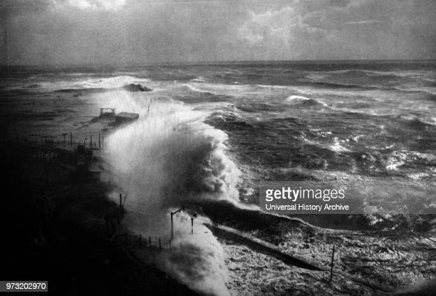 Angry Sea c 1920 by Franz Schensky