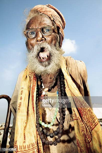Angry Senior Indian Man Shouting Pushkar Camel Fair