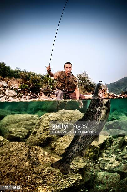 angry trout - trout stock pictures, royalty-free photos & images